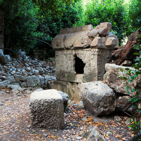 robbed: The sarcophagus in the reserve near Olympos in Ciral Turkeyi
