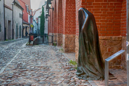 iron curtains: RIGA, LATVIA - JUNE 1ST 2016: The Ghost sculpture in Riga on 1st June 2016. The sculpture was created in 2015