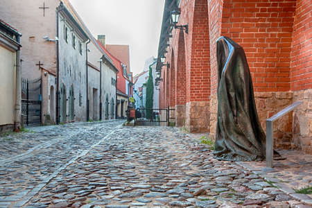 RIGA, LATVIA - JUNE 1ST 2016: The Ghost sculpture in Riga on 1st June 2016. The sculpture was created in 2015