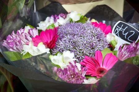 freesia: bouquet of Amsoniya, gerbera, freesia for sale