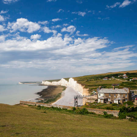 the Seven Sisters in Sussex Stock Photo