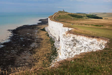 sussex: The Belle Toute Lighthouse at Beachy Head in Sussex