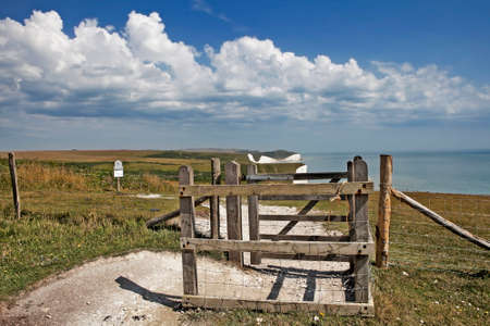 SEAFORD, SUSSEXUK - AUGUST 15 : Seven Sisters in Sussex on August 15, 2013. Gate.