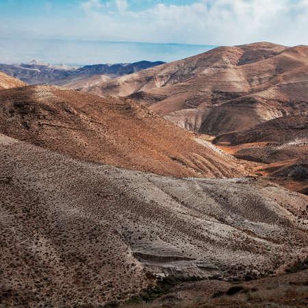 judean desert: Sands of Judean Desert (Israel), from a hill near Beit El