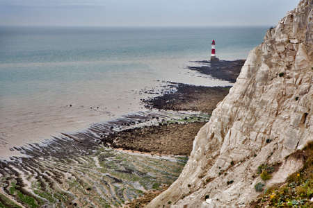top seven: The lighthouse in low tide at Beachy Head in Sussex