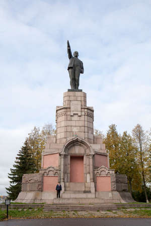 kostroma: Kostroma, Russia, September, 11, 2016. Old historical architecture in Kostroma city, monument Lenin in Russian province