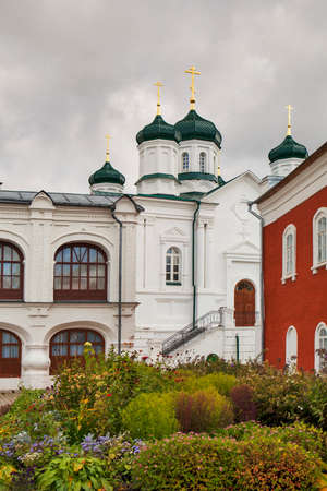 kostroma: KOSTROMA, RUSSIA - SEPTEMBER 16, 2016: View of the Ipatievsky Monastery cloudy September day Cradle of the house of Romanovs