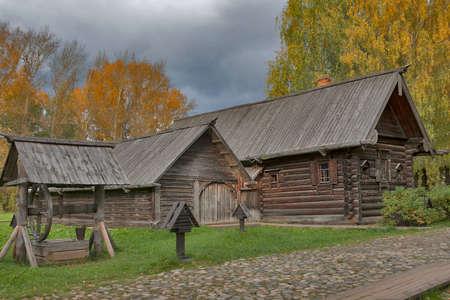 kostroma: KOSTROMA, RUSSIA -September 20, 2016: Kostroma Architectural-Ethnographic and Landscape Museum-Reserve Kostromskaya Sloboda. House of Chapygina from village Bolshoye Andreykovo of Nerekhtsky District