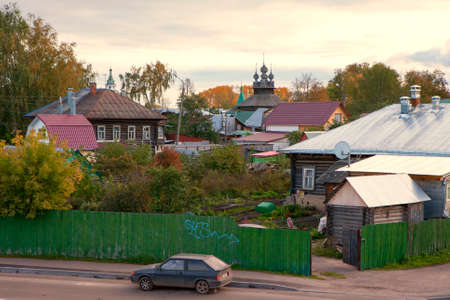 kostroma: KOSTROMA, RUSSIA - SEPTEMBER 14, 2016: View of Kostroma town, Russia, from the Volga river. Kostroma is a popular touristic town situated on the Volga river, a town from the golden ring list.