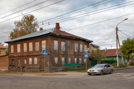 kostroma: KOSTROMA, RUSSIA - SEPTEMBER 14, 2016: Wooden architecture of Kostroma town, historical town famous by its old architecture, popular landmark.