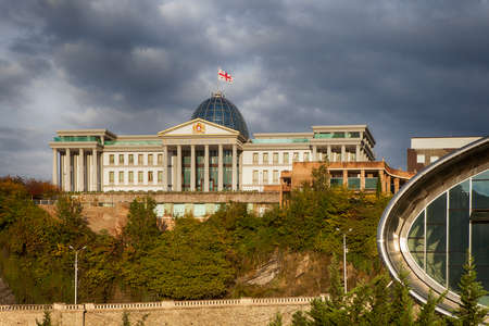 TBILISI, GEORGIA - 5 November 2016: Concert Hall and the Official residence of Georgian President in Tbilisi, Georgia