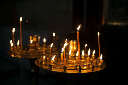 introversion: Candles in the orthodox georgian church