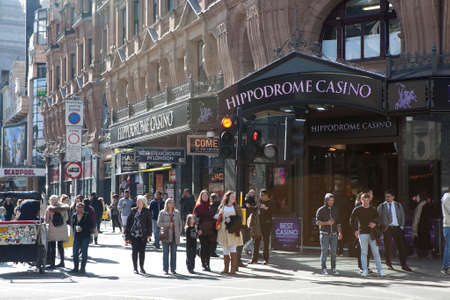sq: LONDON - JANUARY 22nd: The exterior of the hippodrome casino on January the 22nd, 2017, in London, England, UK. The hippodrome is the uks largest casino. Editorial