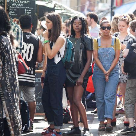 sunday market: LONDON, ENGLAND - JULY 12, 2016 Editorial