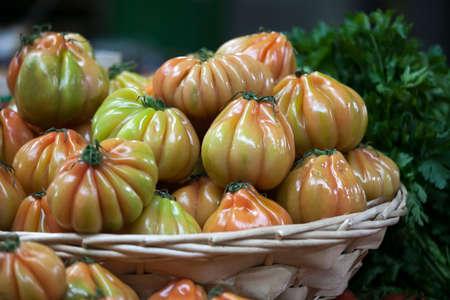 the England, London, Southwark, Borough Market, Vegetable Stall, Tomato Display
