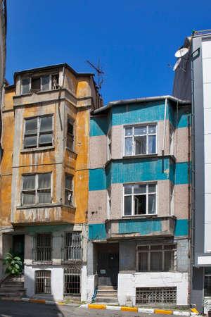 ISTANBUL TURKEY 05 July 2017 Old house in municipality of Belediye in Istanbul. Editorial