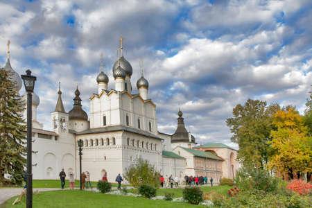 ROSTOV, Russia - 11 September 2017 , Kremlin of ancient town of Rostov Veliky.Russia. Golden Ring