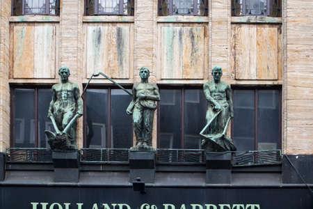 Amsterdam, Holland - 14 April 20018 hoi and barrett amsterdam building sculpture