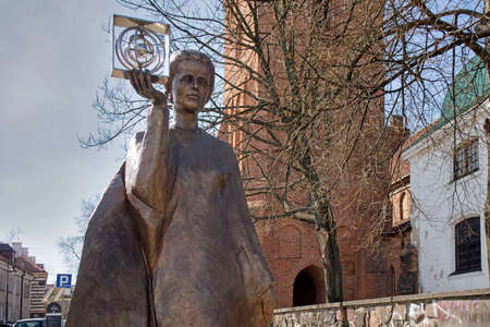 WARSAW, POLAND - APRIL 28, 2018: Monument of Polish physicist and chemist, first woman to win a Nobel Prize - Marie Sklodowska Curie in Warsaw Editorial