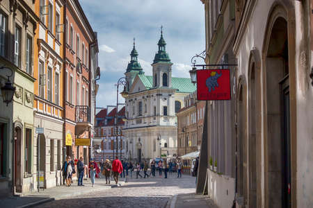 WARSAW, POLAND - APRIL 28, 2018: Church of the Holy Spirit in Warsaw