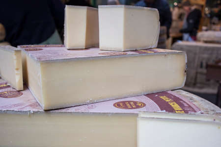 London, UK - 12 March 2020 Marcel Petite Comte Loire Valley, France. The great French alpine cheese, and the best selling AOC cheese in France, Comte is a marvel. Redakční
