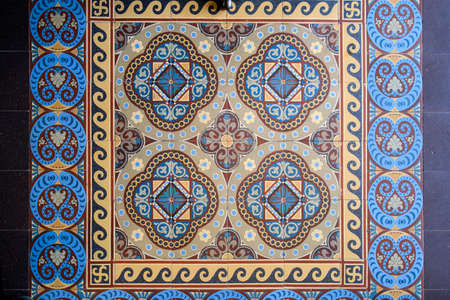 Samples of the famous Metlakh tiles, popular more than a hundred years ago. Pattern