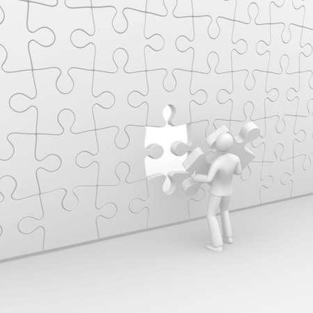 Puzzle completion Banco de Imagens
