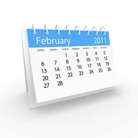 2011 February calendar