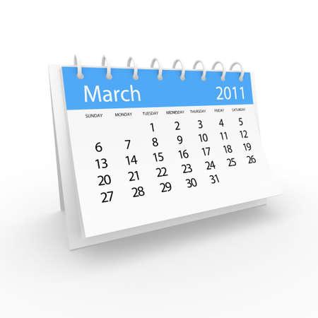 2011 March calendar  Stock Photo