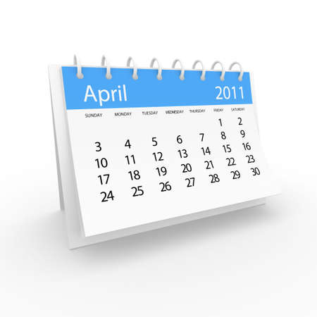2011 april calendar  Stock Photo - 8121149
