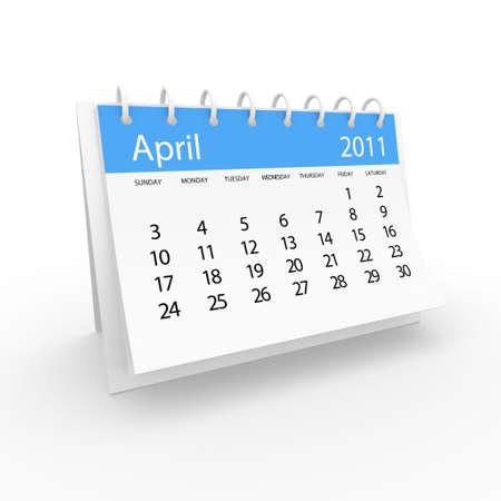 2011 april calendar  Stock Photo