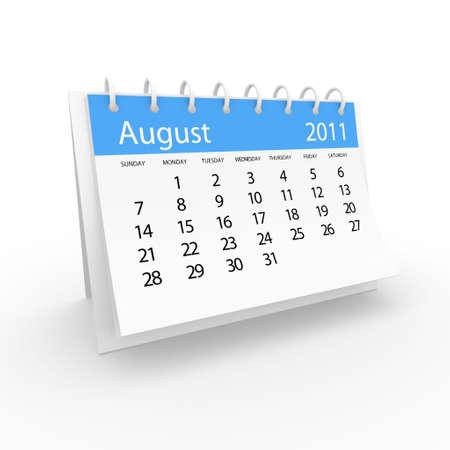 2011 august calendar  Stock Photo - 8121156