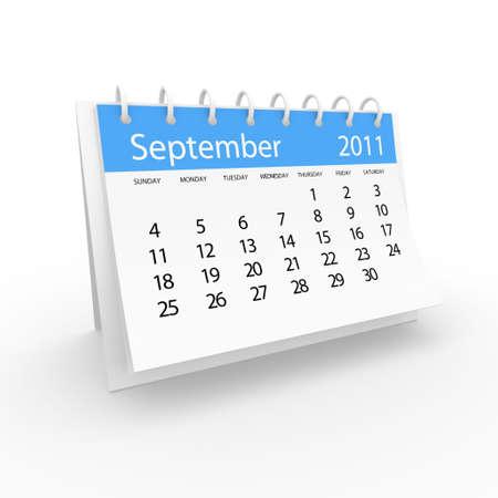 2011 september calendar  Stock Photo