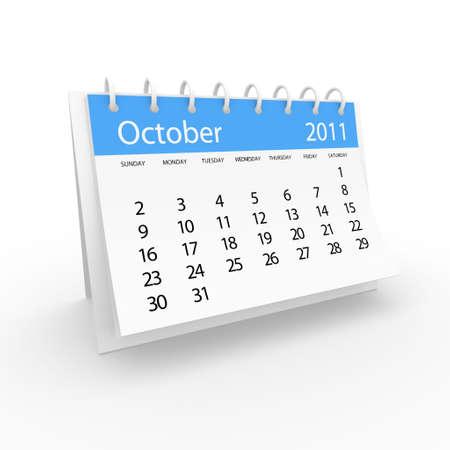 2011 october calendar  Stock Photo