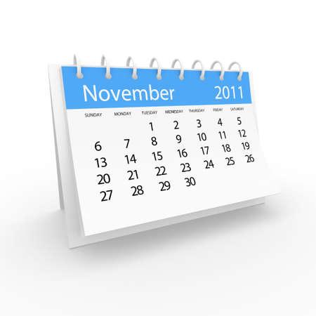 2011 november calendar Stock Photo - 8121159
