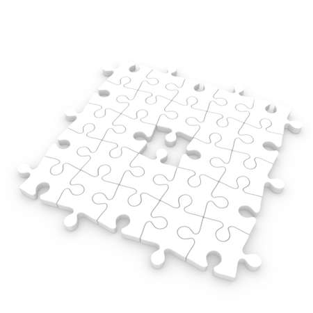 Jigsaw puzzle incomplete