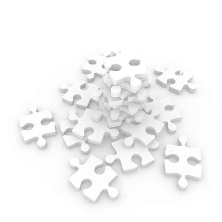 Jigsaw mountain puzzle Stock Photo