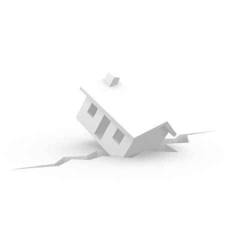 House in Danger  Stock Photo