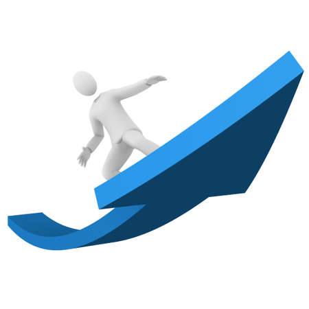 Man surfing the success
