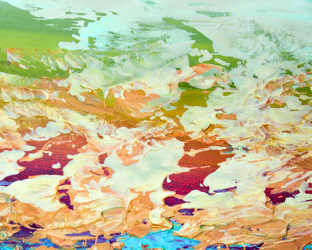 Close up of painterly background design on canvas Stock Photo