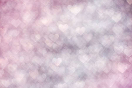 Background of abstract pink heart bokeh
