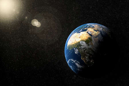 3D Illustration of planet Earth with the African continent Stock Photo