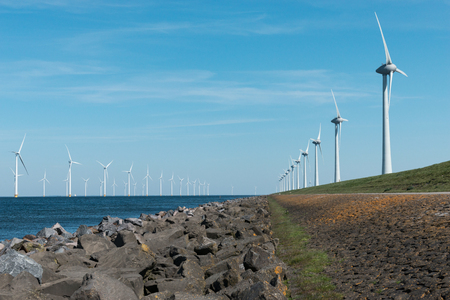 Windmills for the Dutch coast on the land and in the water