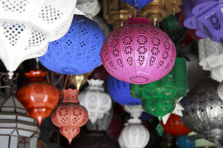 suq: The lanterns are one of the typical products of the arab; the labyrinthine souks attract the attention of tourists thanks to their bright colors and the varied forms.