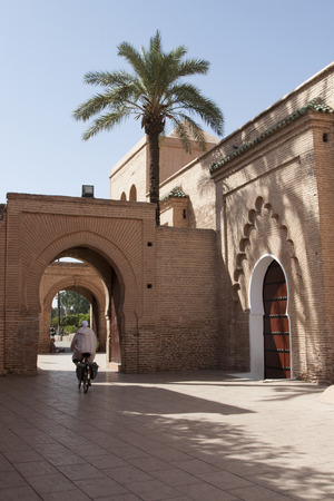 sheltered: A corner sheltered from the sun in the hot Marrakesh.
