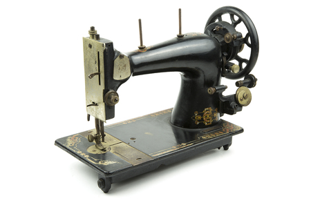 overwhite: portrait of a old italian sewing machine