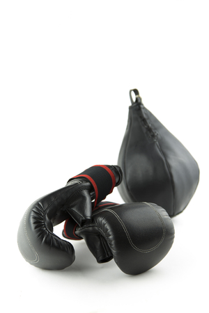 velcro: the equipment isolated portrait of a boxer