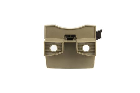 stereoscopic: isolated portrait of a old stereoscopic viewer Stock Photo