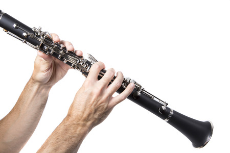 Side view of a clarinet player