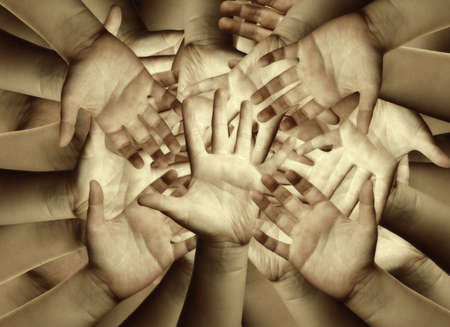 Hands, abstract background Stock Photo - 5107897